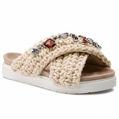 Inuikii WOVEN STONES WHITE sandals size 39
