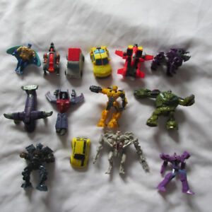 LOT 14 FIGURINES DIFFERENTES TRANSFORMERS MCDONALDS