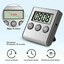 Large LCD Digital Kitchen Timer Loud Alarm Sport Count-Down Up Clock Magnetic US