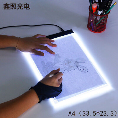 (USA) LED Tracing Light Box Board Tattoo A4 Drawing Pad Table Stencil Display for sale  Shipping to India