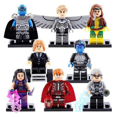 Archangel Magneto Nightcrawler Professor X Rogue Psylocke Lego Moc Minifigure