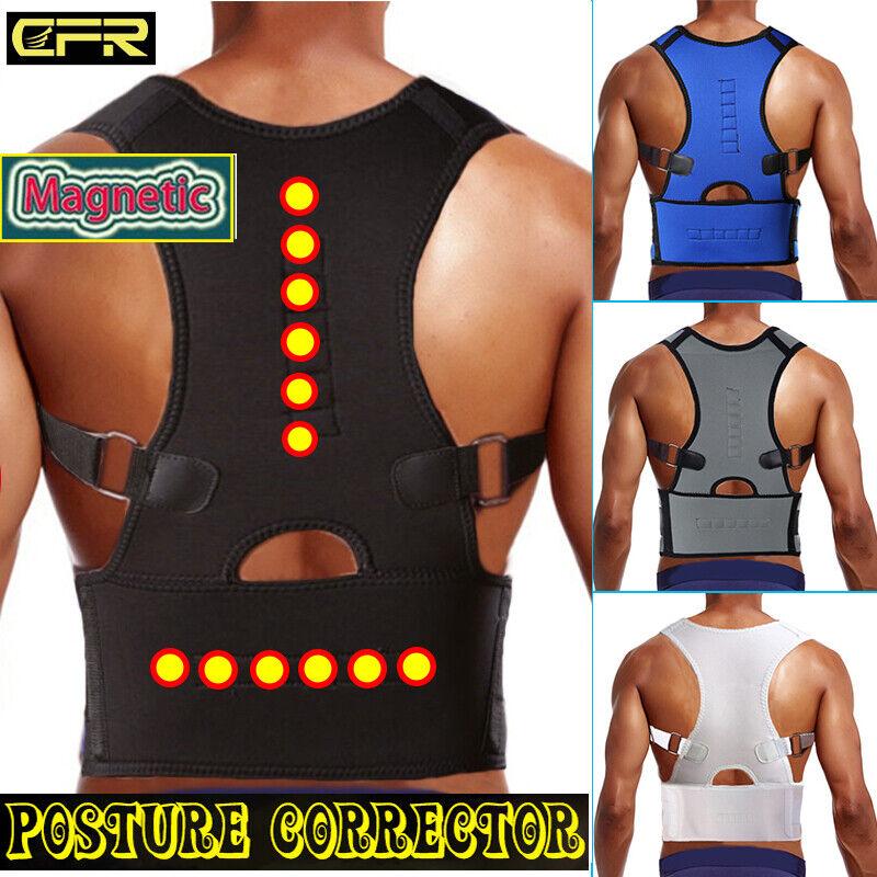 US Posture Corrector Support Magnetic Back Shoulder Brace Be