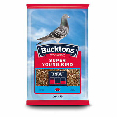 Bucktons Super Young Bird Pigeon Feed for Racing & Breeding Birds Seed Mix 20kg