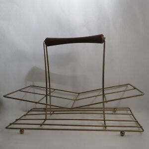 Vinage 1950s 8 Glasses & Wire Holder Rack Kitchener / Waterloo Kitchener Area image 6