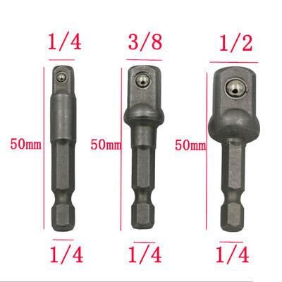 3pcs 0.6cm 1cm 1.3cm Llave de Vaso Adaptador Eléctrico Destornillador Taladro