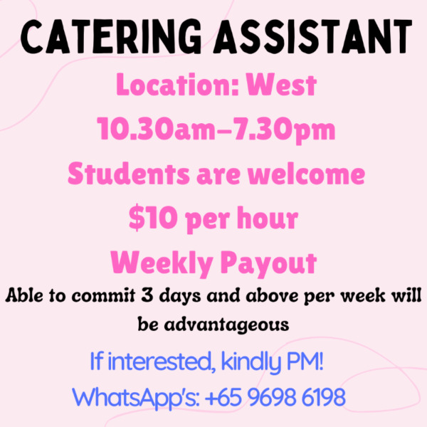 Catering Assistant!! | Near to train station!!! UNLIMITED SLOTS!!!