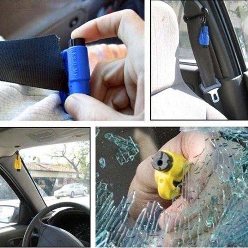 1xNotfall Hammer Mit Gurtschneider Nothammer Für Auto Scheibe Glas Fenster