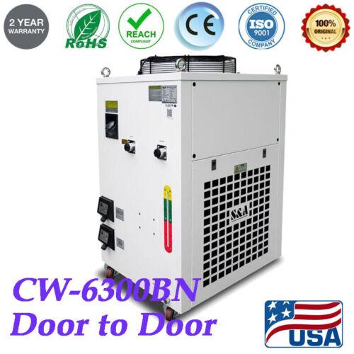 220V CW-6300BN Industrial Water Chiller for 300W YAG laser / CO2 RF Tube 60HZ