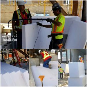 High-density under slab concrete insulation & Geo foam