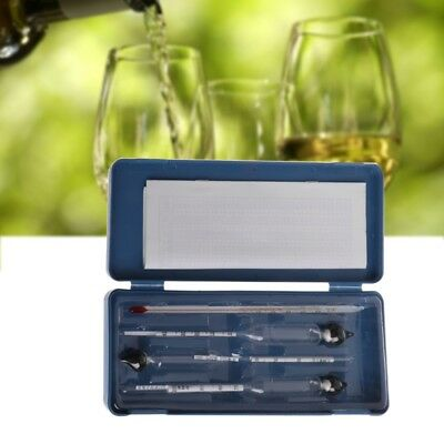 Alcohol Thermometers - 3PCS Alcohol Hydrometer Meter Tester Measure Wine Liquor With Thermometer