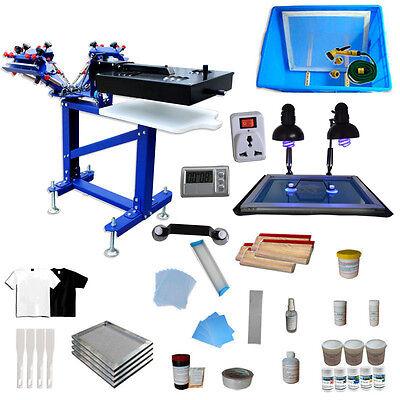 3 Color Screen Printing Press Kit 1 Pallet 1 Dryer Printer Exposure Unit Ink