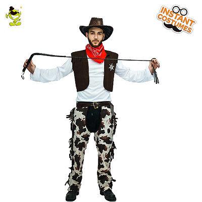 Adult western cowboy Costume  halloween western Mens for party cosplay (Western Costume For Halloween)