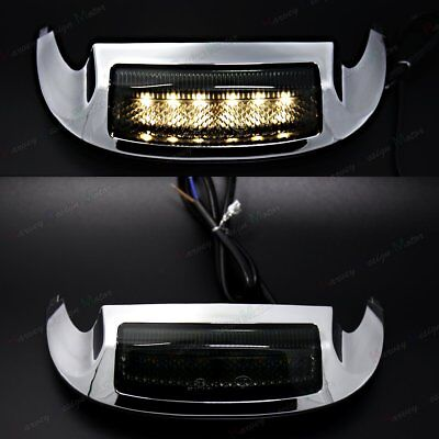 US Front LED Fender Tip Light Smoked Lens For Harley Touring Road KingFLHR 14-17