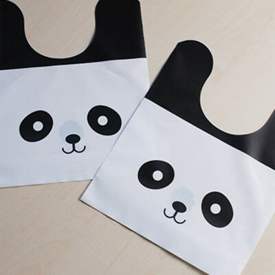 (50Pcs Panda Plastic Cookie Candy Biscuit Packaging Gift Bag Wedding Party YA9)