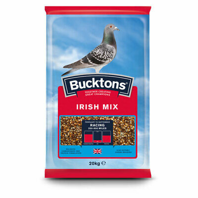 Bucktons Irish Pigeon Feed - Seed Mix Suitable for Breeding & Racing - 20kg
