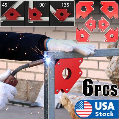 6 Pcs Strength Strong Welding Magnet Arrow Type 25lb 50lb 75lb Arrow Holder