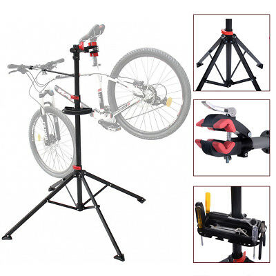 Bike Bicycle Adjustable Folding Repair Maintenance Mechanic Stand Rack Workstand
