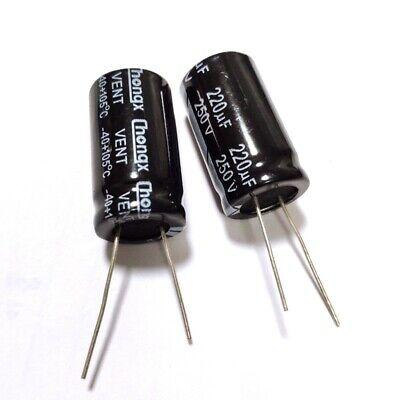 2pcs 250v 220uf 250volt 220mfd Electrolytic Capacitor 1830mm