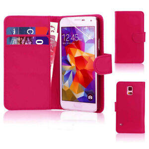 iPhone 4/4S/5/5S Case Cover Card Holder W/Stand Magnetic Rose