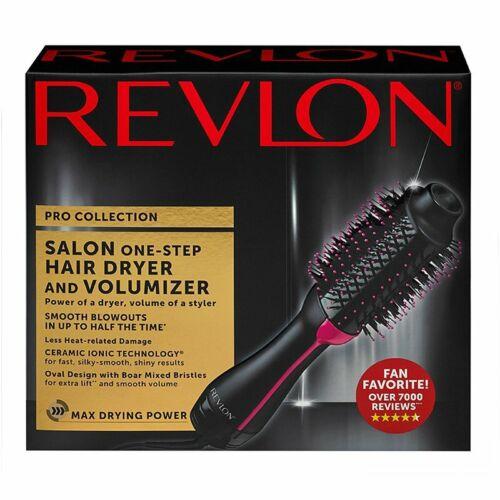 Black Revlon Pro Collection Hot Air One Step Hair Dryer Brush Styler Volumizer