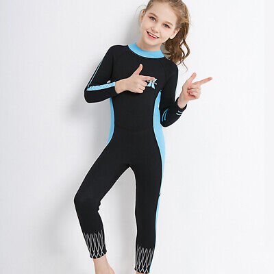 Flexible Kids Wetsuit (Kids Full body One Piece Swimsuit Elastic Soft Long Sleeve Trousers Diving Wear )