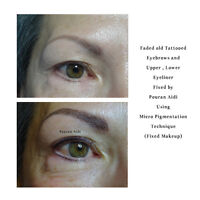 Colour Correction and Fixing Bad shaped Eyebrow Tattoos