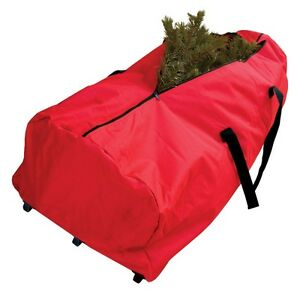 Christmas Tree Storage Bag (Red) with wheels