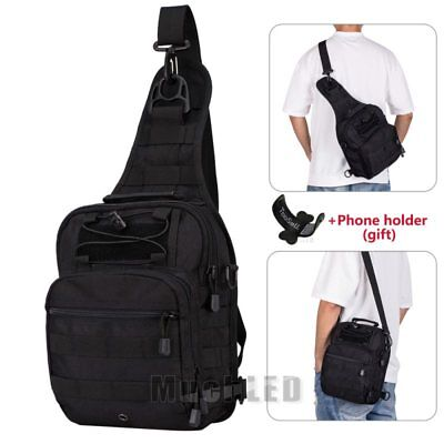 Men's Military Nylon Chest Cycle Sling Satchel Shoulder Bag Small Day Pack Purse