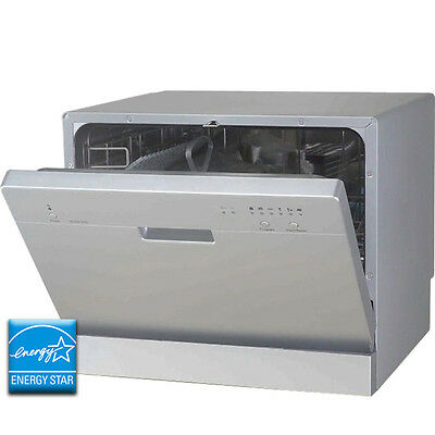 Countertop Dishwasher Two Spray Arms : Stainless Steel Countertop Dishwasher - Portable Tabletop Dish Washer ...