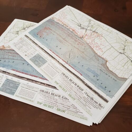 Set of 2 Omaha Beach Maps from D-Day