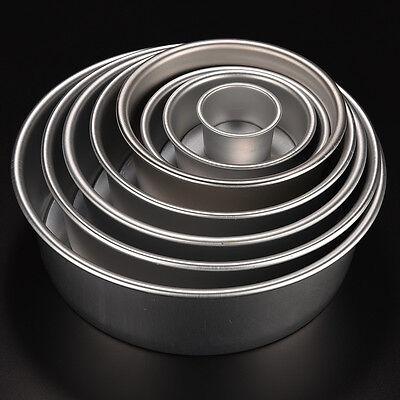 Hot Aluminum Alloy Removable Bottom Round Cake Baking Mould Pan Bakeware Tool JG