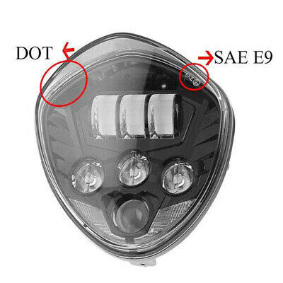 Front High Low Beam LED Headlight Diecast Housing For Victory Cross Country Tour