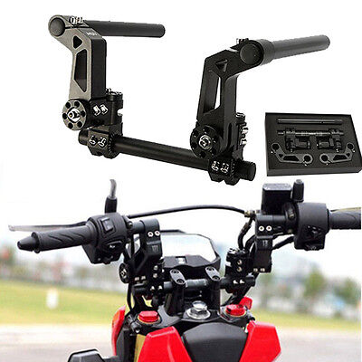 """US 125cc 7/8"""" Black CNC Motorcycle Scooter Adjustable Steering Handle Bar System"""