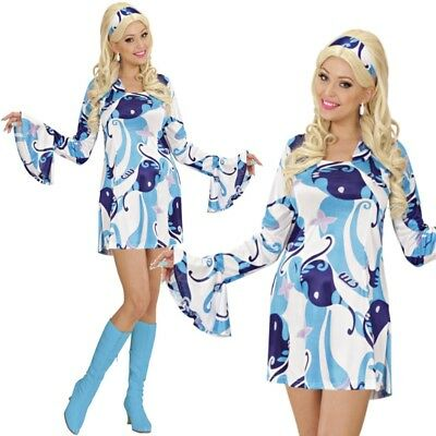 TOP 70er Jahre Hippie Retro Minikleid Gr. L - Hippie Kleider Kostüm