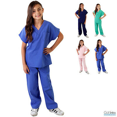 Children's Kids Soft Touch Scrubs Set Top & Pants Uniform Boys/Girls -