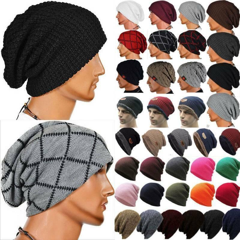 Unisex Beanie Knit Hat Cap Slouchy Skull Ski Men Women Strec