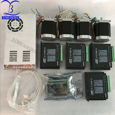 Cnc Router Kit 4 Axis 4pcs 1 Axis Tb6600 Driver1 Interface Board76mm Nema 23