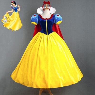 Disney Snow White Princess Costume Adult Halloween Fairytale Party Ball Gown](Disney Princess Costume Adult)