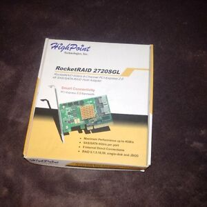 RocketRAID 2720SGL PCI-Express 2.0 SAS/SATA RAID Adapter
