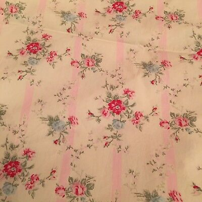 Rachel Ashwell Shabby Chic Fabric Floral Trellis Ivory Fabric Retired Pink Rose for sale  Mobile