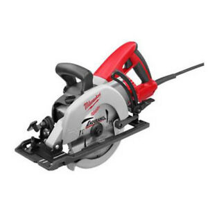 "Milwaukee 7-1/4"" worm drive circular saw."