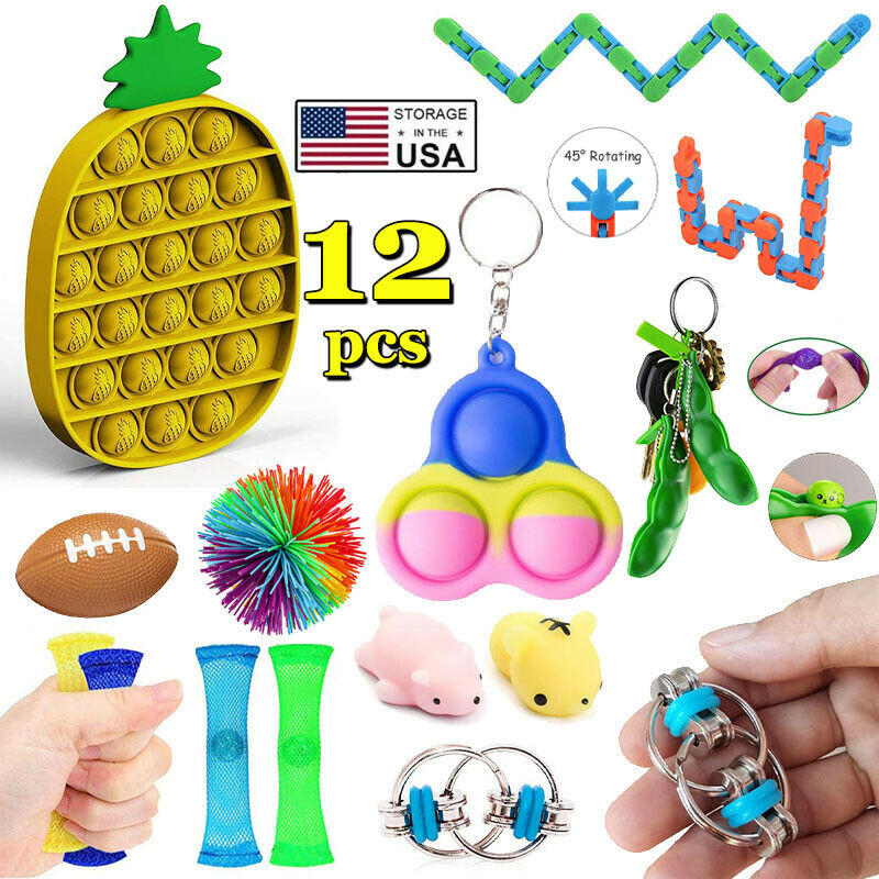 12 PACK Sensory Fidget Toys Set Baby Simple Dimple Autism ADHD Stress Relief Toy