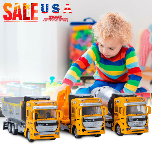 Toys for Boys Kids Truck Car Excavator Construction Vehicles