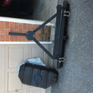Jeep tj 1997 - 2006 rear bumper and swing tire carrier
