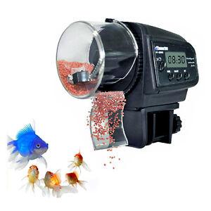 distributeur automatique nourriture pour poisson d alimentation auto aquarium ebay