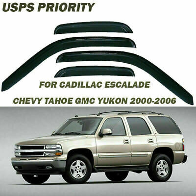 Window Visor Vent Guard For GMC Yukon Chevy Tahoe Cadillac Escalade 2000-06 QD09