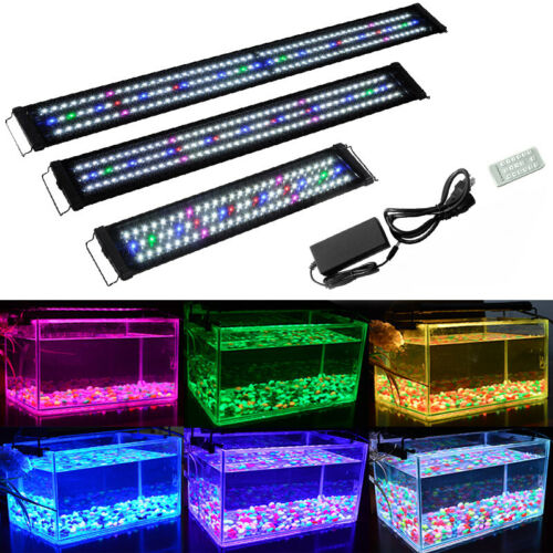 60-180 cm Aquarium Beleuchtung Vollspektrum LED Aufsetzleuchte Lampe Abdeckung