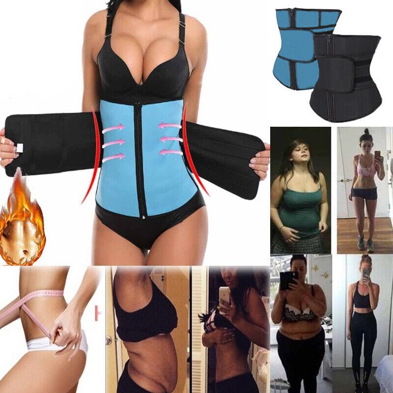 Hot Sweat Weight Loss Waist Trainer Trimmer Belt Fat Burning