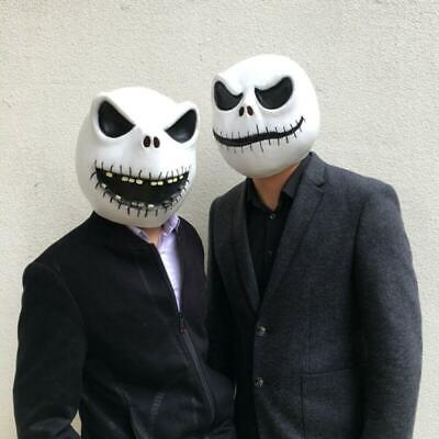 Jack Skellington Mask Latex The Nightmare Before Christmas Costume Party Props](Jack Skellington Latex Mask)