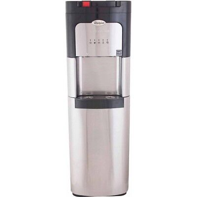 Whirlpool Water Cooler Hot Cold Dispenser Bottom Load Stainless Steel H2O
